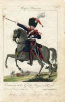"""BASSET- """"TROUPE FRANÇAISE"""" - Gravure - n° 26 CANONNIER DE LA GARDE ROYALE - RESTAURATION (1)"""