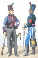 1816. Hussards. Brigadier ( 3e Régiment - de la Moslle), Maréchal des Logis (6e Régiment - du Haut Rhin). (2)