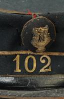Photo 2 : KÉPI DE MUSICIEN, SERGENT AU 102ème BATAILLON DE LA GARDE NATIONALE DE LA SEINE, 170-1871, SECOND EMPIRE.