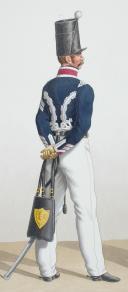 Photo 2 : 1830. Garde Royale. Hussards. Maréchal des Logis, Maréchal des Logis, Trompette.