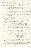 Photo 2 : Chouannerie. BEAU CERTIFICAT DE SERVICES DE FIDÈLE PIQUELIN, domicilié à Angers, Sergent dans la 3è Compagnie de la Colonne Mobile, aspirant à obtenir un grade dans la Légion de Maine & Loire, Angers 29 vendémiaire an 8 (21 octobre 1799 ).