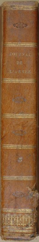 """"""" Journal de l'armée  """" - 1 Tome - 3ème année - Paris - 1835  (8)"""