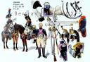 RIGO (ALBERT RIGONDAUD) : LE PLUMET PLANCHE U11 : CUIRASSIERS 1er REGIMENT EN 1801, 9e REGIMENT EN 1806-1808 13e en 1813.