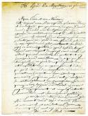 Marine. LETTRE DU MARIN GAUTIER, voltigeur à bord du « Majestueux », À SON PARRAIN ET SA MARRAINE, le 28 novembre 1806.
