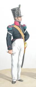 Photo 2 : 1820. Légions Légères. Fourrier de Chasseurs, Voltigeur (37e Légion - du Jura)