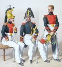 Photo 2 : 1830. Dragons.  Adjudant Sous-Officier, Maréchal-Ouvrier, Brigadier (12e Régiment).