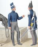 Photo 2 : 1820. Garde Royale. Grenadiers à Cheval (1er Régiment). Grenadiers.