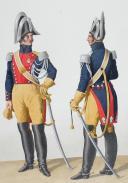 Photo 2 : 1830. Gendarmerie Royale des Départements. Lieutenant-Colonel, Capitaine.