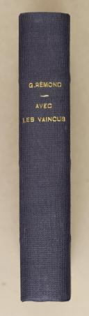 """Photo 2 : RÉMOND (Georges) – correspondant de guerre de l'illustration """" Avec les vaincus """""""