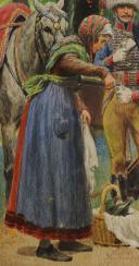 LUCIEN ROUSSELOT : AQUARELLE ORIGINALE - TROMPETTES DES CHASSEURS À CHEVAL DE LA GARDE IMPÉRIALE, PREMIER EMPIRE. (5)