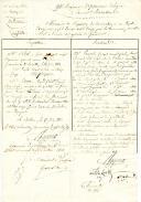 Armée du Midi en Espagne. Nomination de porte-aigle. MÉMOIRE DE PROPOSITION DE NOMINATION DE Mr LAURE, 1er PORTE-AIGLE AU 94ème RÉGIMENT D'INFANTERIE DE LIGNE, 17 juin 1813.