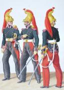 Photo 2 : 1830. Dragons.  Trompettes ert Maréchal des Logis-Trompette (4e Régiment).