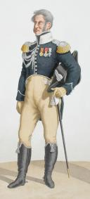 1817. Garde Royale. Chasseurs. Major, Chasseur. (2)