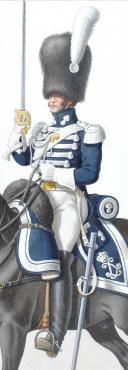 Photo 2 : 1824. Garde Royale. Grenadiers à Cheval (1er Régiment). Grenadier.