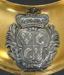 Photo 2 : HAUSSE-COL D'OFFICIER, MODÈLE DU 25 AVRIL 1767, RÉGIMENT DU DAUPHIN, ANCIENNE MONARCHIE.
