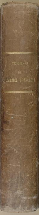 """AUBRY et LŒILLOT  - """" Esquisses historiques, psychologiques et critiques de l'Armée Française, par Joachim Ambert """" - 1 Tome - Seconde édition - Saumur - 1837  (8)"""