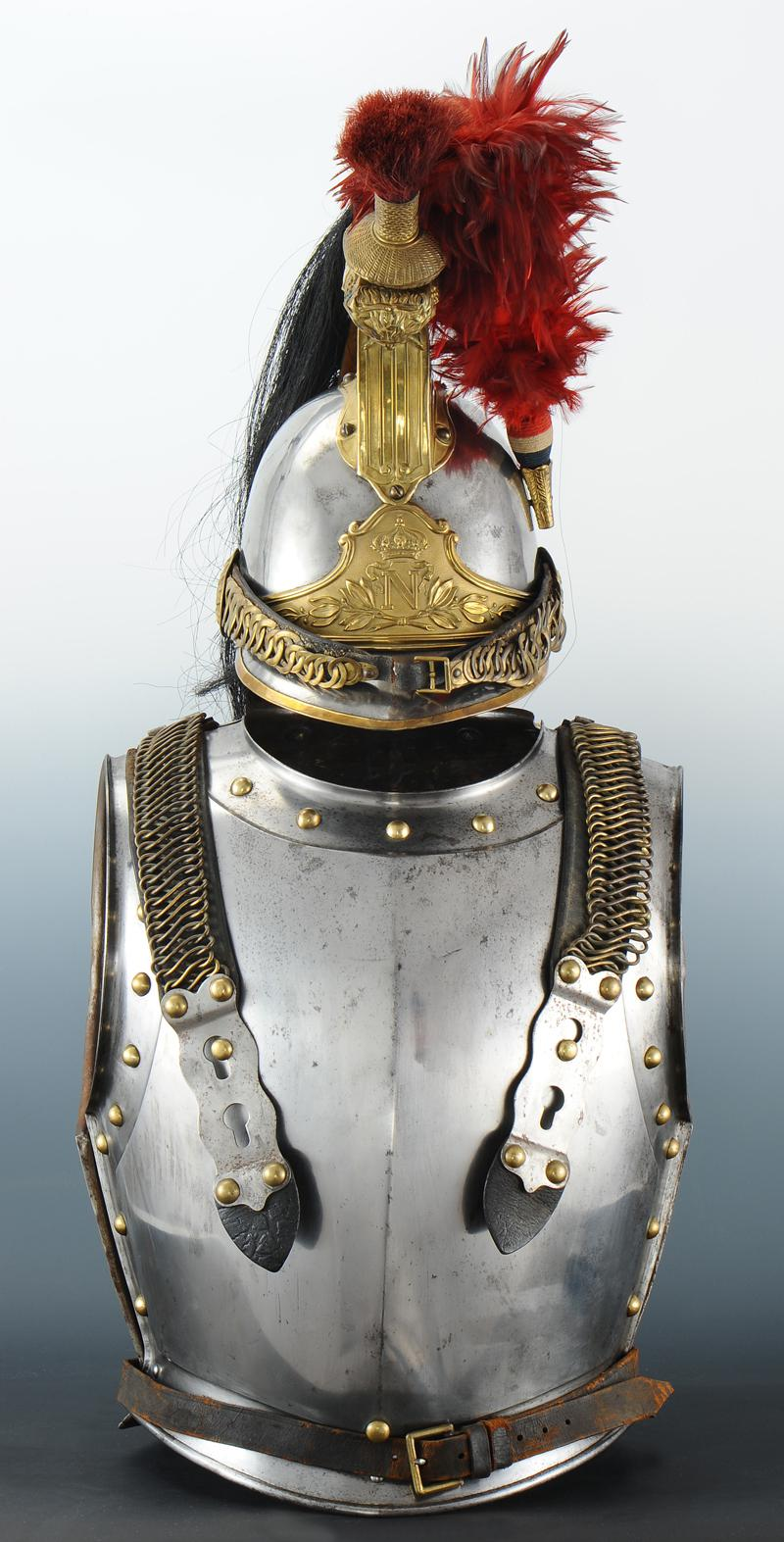 ensemble casque et cuirasse de cuirassiers de la garde imp riale mod le 1854 second empire. Black Bedroom Furniture Sets. Home Design Ideas