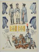"""Photo 1 : L'ARMÉE FRANÇAISE Planche N° 55 : """"TRAIN D'ARTILLERIE 1800 - 1815"""""""