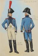 Photo 1 : ROUSSELOT Lucien, Artillery train of the Imperial Guard, circa 1804-1805. First Empire,AQUARELLE ORIGINALE.