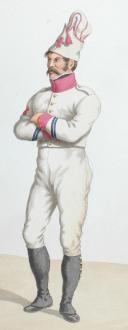 1816. Légions Départentales. Sapeur (14e Légion - du Cantal), Caporal de grenadiers (33e Légion - d'Île et Vilaine) (2)