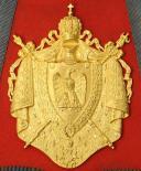 Photo 5 : SABRETACHE DU CHEF DE MUSIQUE MOHR DU REGIMENT DES GUIDES DE LA GARDE IMPERIALE, SECOND EMPIRE (1852-1865).