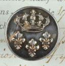 Photo 1 : BOUTON DES INVALIDES, MODÈLE DU 25 AVRIL 1767, ANCIENNE MONARCHIE (1767-1786).