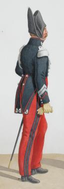 1820 Garde Royale. Chasseurs. Maréchal des Logis, Trompette.