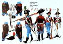 RIGO (ALBERT RIGONDAUD) : LE PLUMET PLANCHE U8 : INFANTERIE LEGERE LEGION NOIRE DEVENUE 14e DEMI-BRIGADE 1798-1799.