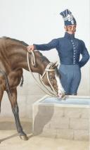 Photo 2 : 1830. Gendarmerie Royale des Départements. Gendarme à Cheval.