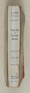 """PRIS (Edmond) – """" Trente ans de servitude militaire """"   (2)"""