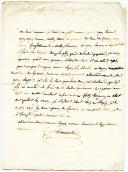Armée d'Italie. LETTRE DU SOLDAT DOMMARTIN À SA MÈRE, le 23 novembre 1795.