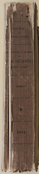 """MONTLUC - """" Commentaires et lettres de Blaise de Montluc """" - 5 volumes - (1864-1872) (2)"""