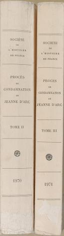 """PIERRE TISSET - """" Procés de condamnation de Jeanne d'Arc """" - 2 Tomes - Paris - (1970-1971)  (2)"""