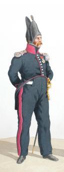 Photo 2 : 1820. Légions Légères. Lieutenant de Carabiniers (37e Légion - du Jura), Tambour-Major (54e Légion - de la Corse).