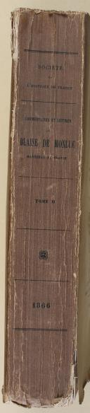 """MONTLUC - """" Commentaires et lettres de Blaise de Montluc """" - 5 volumes - (1864-1872) (6)"""