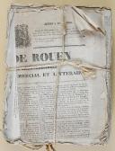 """Photo 1 : """" Journal des défenseurs de la patrie et des acquéreurs des domaines nationaux """" - 1830"""