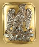 PLAQUE DE CEINTURON D'OFFICIER D'INFANTERIE OU DE LA GARDE NATIONALE,MODÈLE 1845, SECONDE RÉPUBLIQUE. (1)