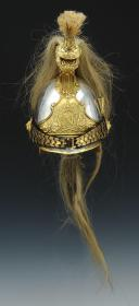 CASQUE D'OFFICIER OU DE SUOUS-OFFICIER DE L'ESCADRON DES CENT-GARDES DE L'EMPEREUR NAPOLÉON III, SECOND EMPIRE.