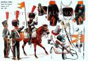 RIGO (ALBERT RIGONDAUD) : LE PLUMET PLANCHE U6 : CHASSEUR A CHEVAL SAPEUR DU 13e REGIMENT CAVALIERS DU 24e 1808-1809.