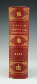 Photo 1 : ALMANACH IMPÉRIAL DE 1863 AU CHIFFRE « B », Second Empire.