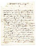 LETTRE DU LIEUTENANT BRION, 12ème régiment de Hussards, 15 juillet 1796 au Citoyen Monestier, commissaire du pouvoir exécutif à Clermont.