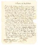 Chouannerie. LETTRE DU GÉNÉRAL JEAN-DAVID BOERNER AU CITOYEN TROUILLET, commandant à Ingrandes : instructions concernant une battue contre les Chouans autour de La Rouxière en Loire-Atlantique, 22 thermidor an 3 (9 août 1795).