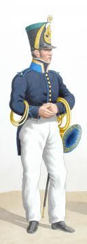 Photo 2 : 1820. Légions Légères. Musicien (65e Légion - des Pyrénées Orientales), Musicien (84e Légion - de la Haute Vienne)