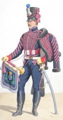 Photo 2 : 1816. Hussards. Fourrier, Trompette (4e Régiment - du Nord).