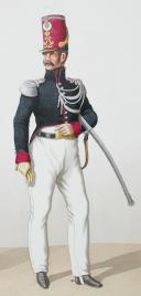 Photo 2 : 1824. Garde Royale. Chasseurs. Chasseur, Sous-Lieutenant.