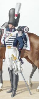 Photo 2 : 1830. Garde Royale. Grenadiers à Cheval (2e Régiment). Maréchal des Logis-Chef.