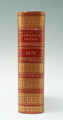 Photo 2 : ALMANACH IMPÉRIAL DE 1870 AUX GRANDES ARMES DE L'IMPÉRATRICE EUGÉNIE.