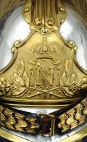 Photo 8 : CASQUE D'OFFICIER OU DE SOUS-OFFICIER DE L'ESCADRON DES CENT-GARDES DE L'EMPEREUR NAPOLÉON III, Second Empire.