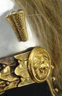 Photo 9 : CASQUE D'OFFICIER OU DE SOUS-OFFICIER DE L'ESCADRON DES CENT-GARDES DE L'EMPEREUR NAPOLÉON III, Second Empire.