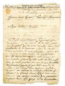 Photo 1 : LETTRE DU SOLDAT DANTAN, CAPORAL DES CANONNIERS AU 9è BATAILLON À L'ARMÉE DES PYRÉNÉES, À SA FEMME À PARIS, 7 fructidor an 2, 1794.